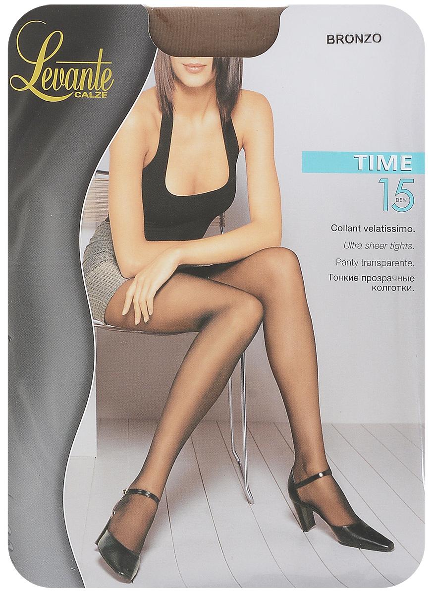 Колготки женские Levante Time 15 XXL, цвет: Bronzo (бронза). Размер 5 колготки женские levante time 15 xxl цвет fumo серый размер 5