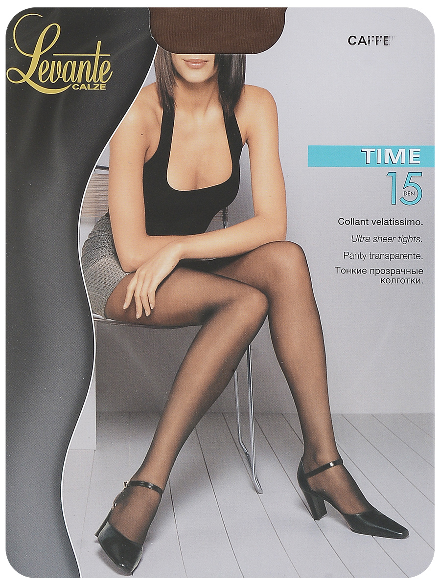 Колготки женские Levante Time 15 XXL, цвет: Caffe (темно-коричневый). Размер 5 колготки женские levante time 15 xxl цвет fumo серый размер 5