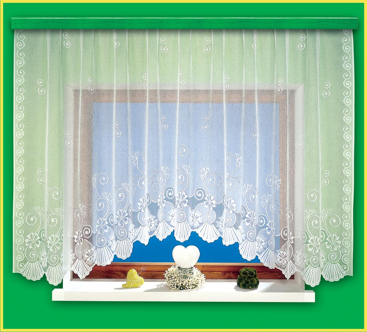 Гардина Haft, на ленте, цвет: белый, высота 150 см, ширина 300 см