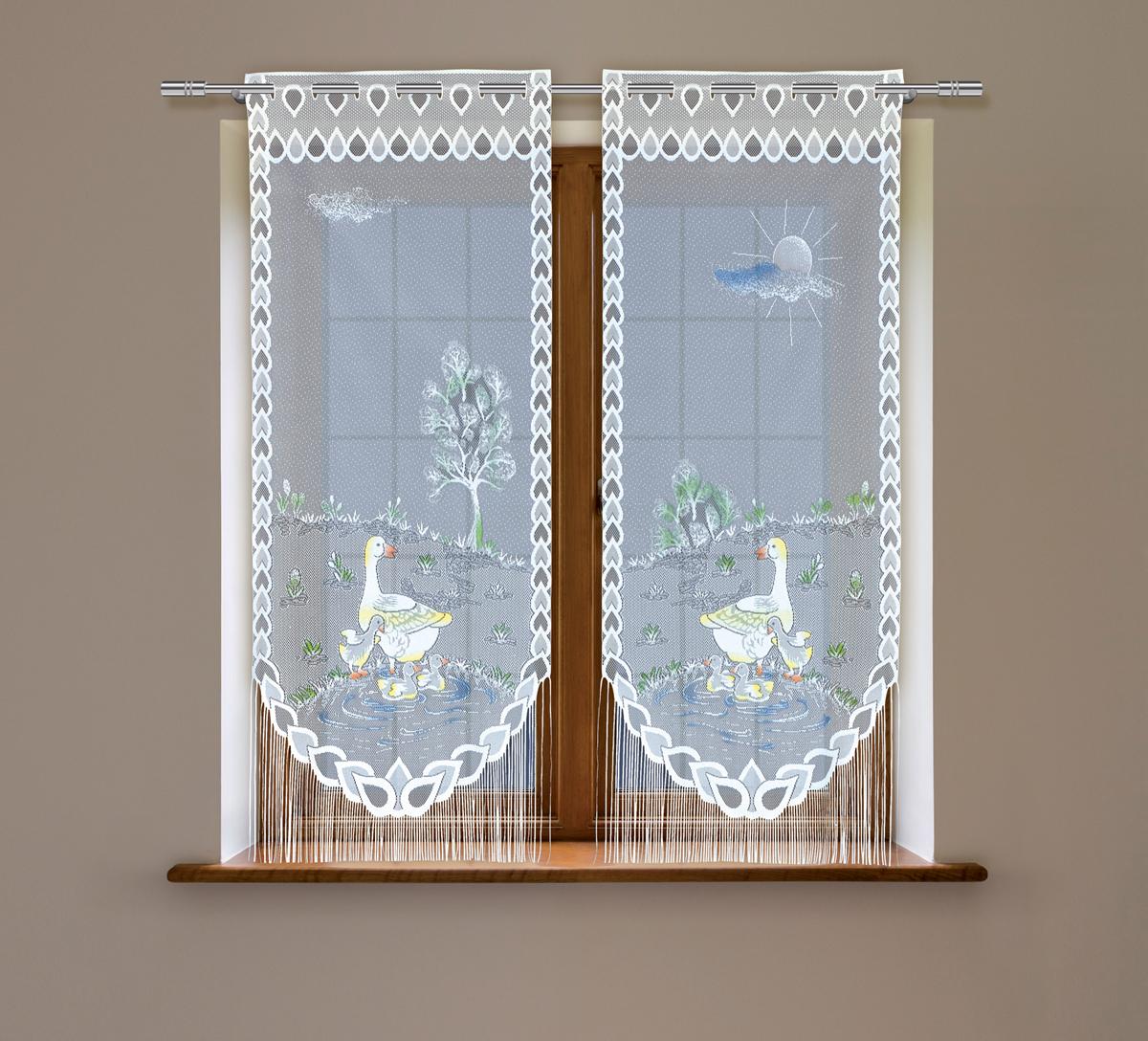 Гардина Haft, на зажимах, цвет: белый, высота 160 см, ширина 60 см, 2 шт