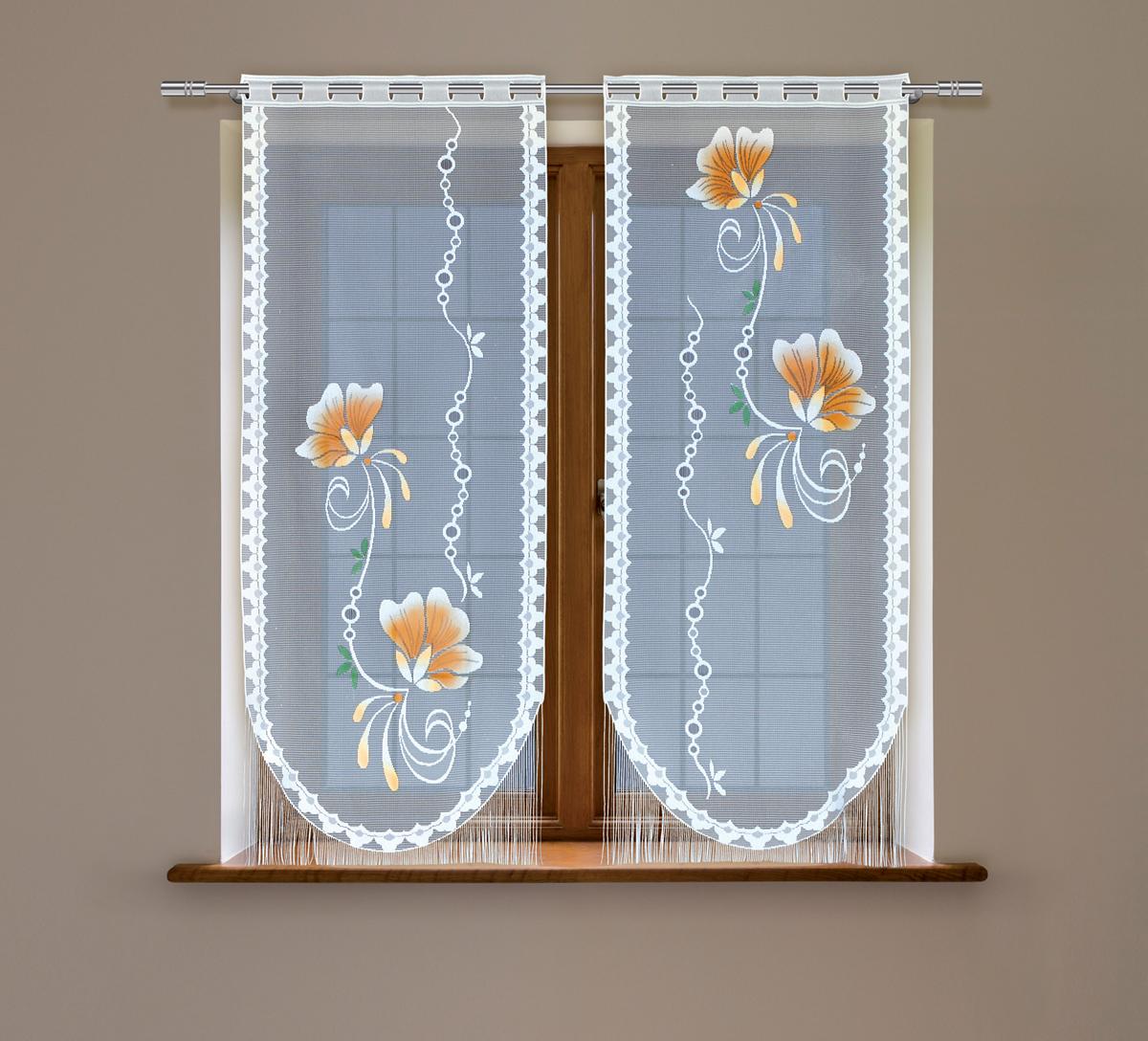 Гардина Haft, на зажимах, цвет: белый, высота 160 см, ширина 60 см, 2 шт. 23233С/60