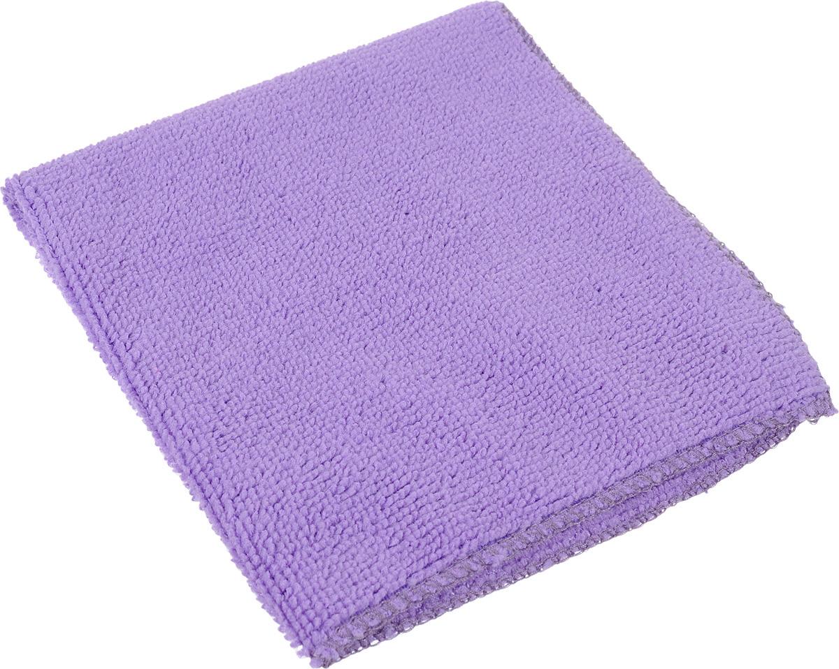 Салфетка универсальная Коллекция, цвет: фиолетовый, 30 х 30 смХ5СМФ_фиолетовыйСалфетка универсальная Коллекция, цвет: фиолетовый, 30 х 30 см