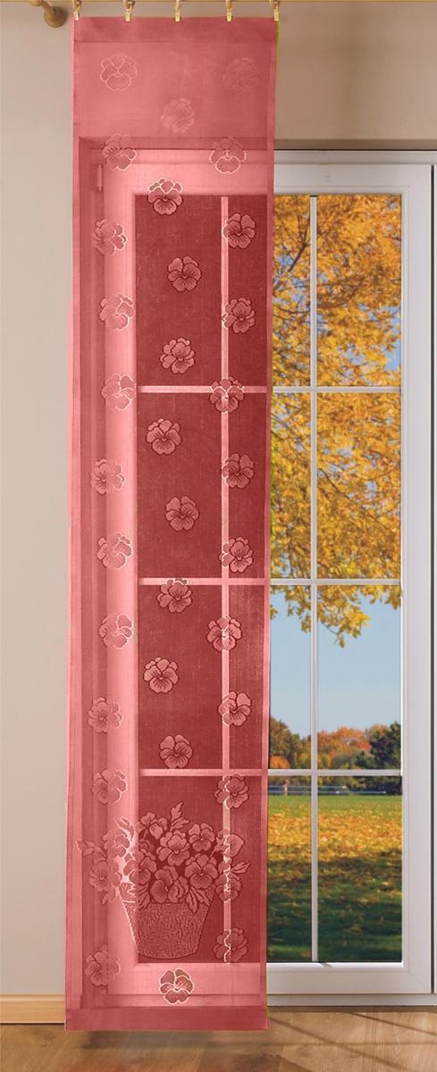 Гардина-панно Wisan, на зажимах, цвет: бордовый, ширина 50 см, высота 250 см095AЗавод WISAN уже свыше 60 лет производит разные виды штор. Wisan является основным производителем гардин в Польше и одним из крупнейших в Европе.
