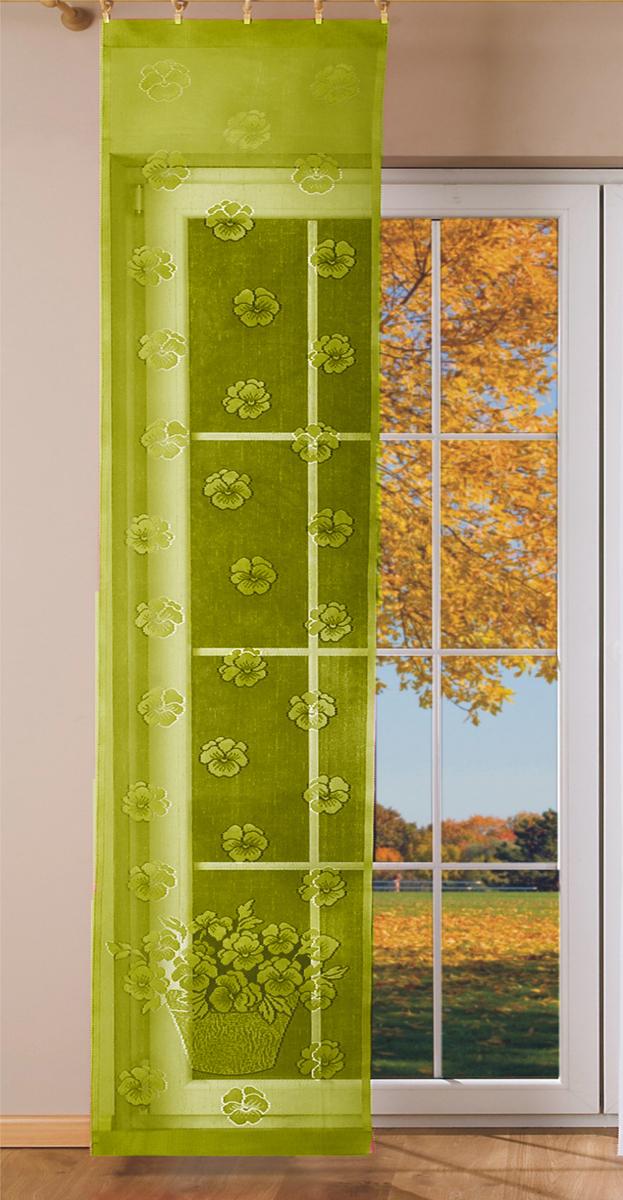 Гардина-панно Wisan, на зажимах, цвет: олива, ширина 50 см, высота 250 см гардина wisan цвет коричневый золотистый ширина 150 см высота 250 см