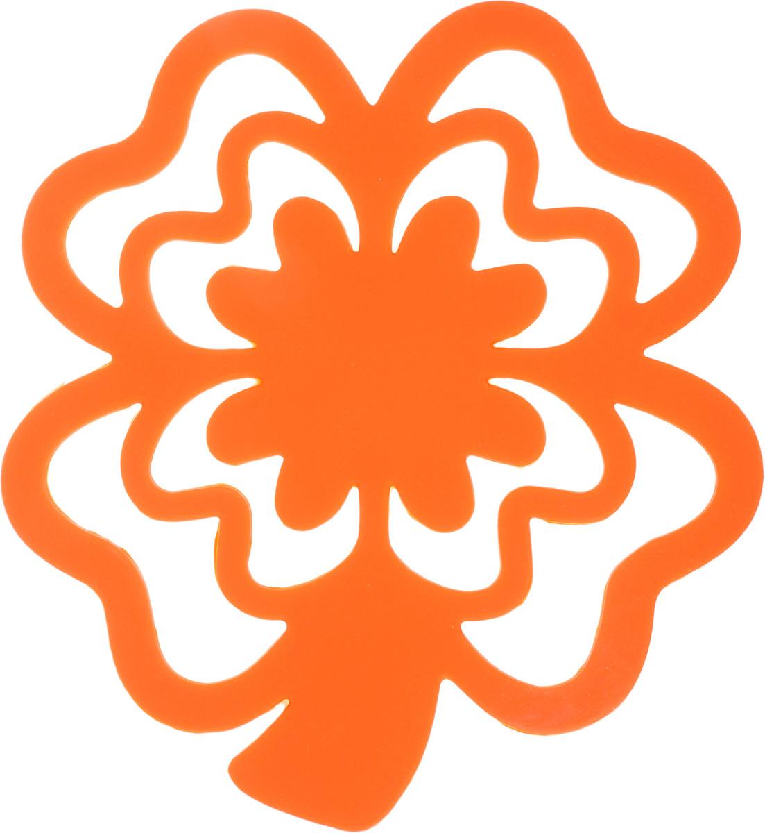 Подставка под горячее Доляна Цветок, цвет: оранжевый148205_оранжевыйНеобходимый и надежный аксессуар на кухне - это подставка под горячее.Силиконовая подставка Доляна Цветок отличается удобством пользования и практичностью. Она надежно защищает поверхность стола от повреждения горячей посуды. Изделие приятно на ощупь и отлично переносит перепад температур.