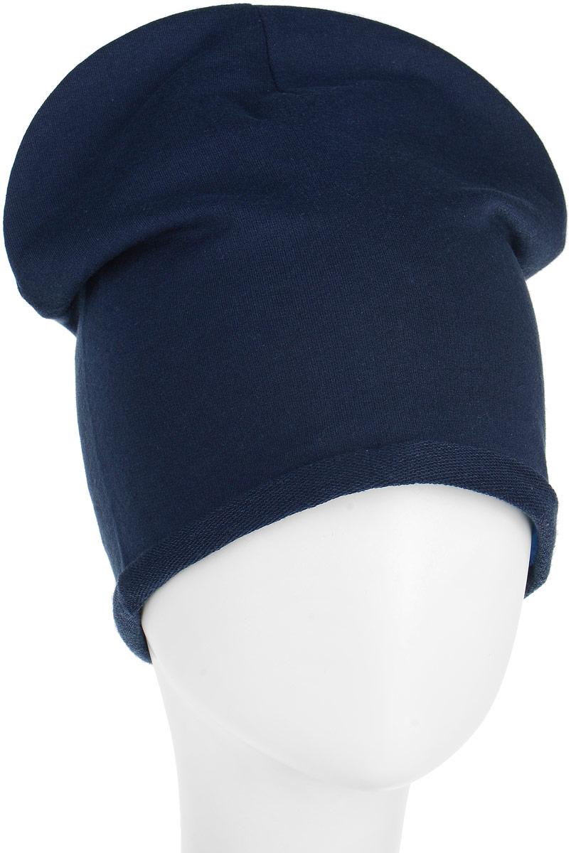 Шапка для мальчиков United Colors of Benetton, цвет: синий, голубой, полоски. 6GIJB4218_903. Размер 52/546GIJB4218_903