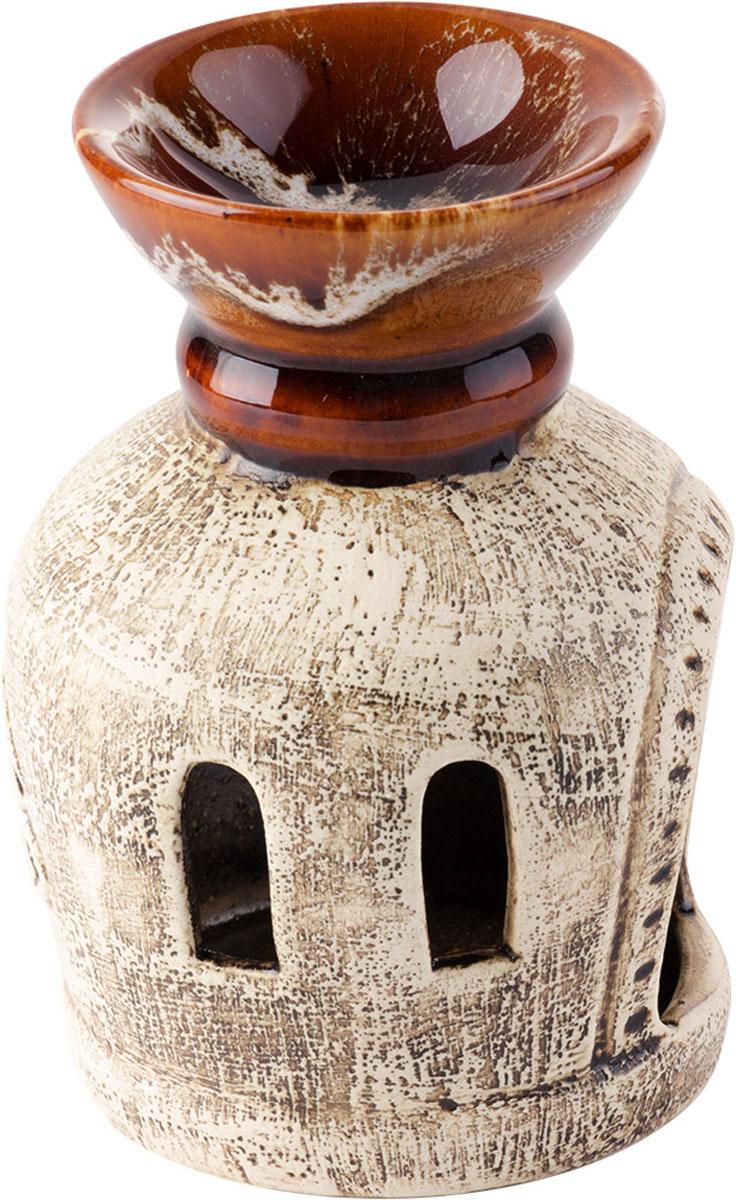 Аромалампа Глаз Гора, цвет: коричневый, 12,5 см4032Декоративный сосуд для ароматизации помещений эфирными маслами