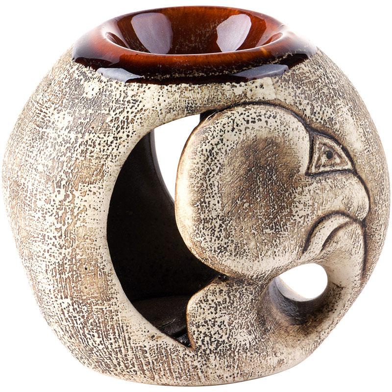 Аромалампа Слоник, цвет: коричневый, 11 см аромалампа шар