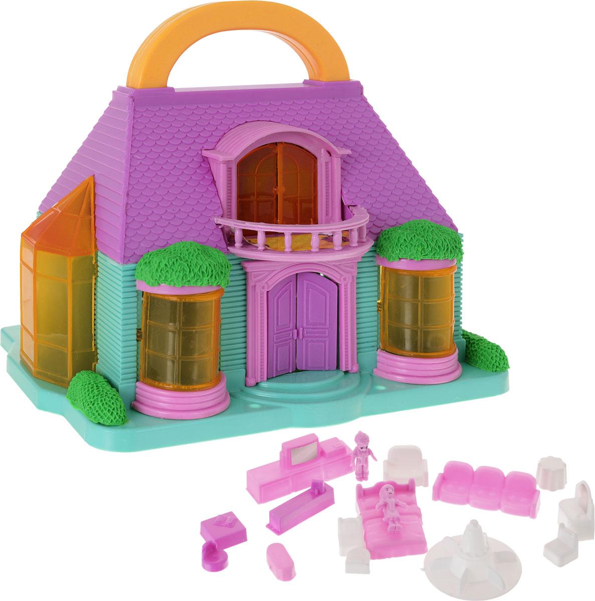 1TOY Игровой набор Домик цвет сиреневый бирюзовый игрушки для ванной 1toy игровой набор
