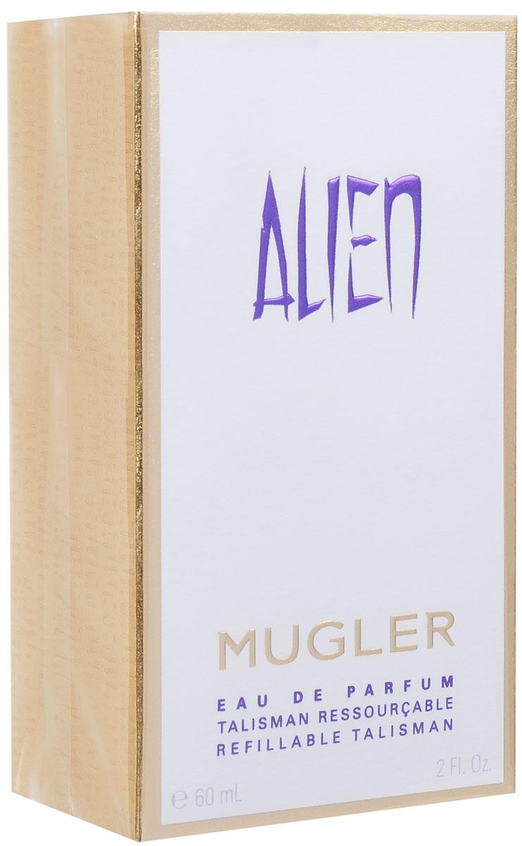 Thierry Mugler Парфюмированная вода Alien, женская, 60 мл13984Таинственный, мистический и яркий аромат с успокаивающим иумиротворяющим шлейфом. Легкие, нежные ноты индийскогожасмина и чувственные, густые ноты амбры создают гармоничную композицию, которая подчеркнетженственность своей обладательницы. Уважаемые клиенты! Обращаем ваше внимание на то, чтоупаковка может иметь несколько видов дизайна. Поставкаосуществляется в зависимости от наличия на складе.Краткийгид по парфюмерии: виды, ноты, ароматы, советы по выбору.Статья OZON Гид
