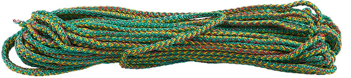 Шнур вязаный Шнурком, с сердечником, цвет: зеленый, белый, 4 мм, 20 м4В520_20_зеленый, белыйШнур вязаный Шнурком, с сердечником, цвет: зеленый, белый, 4 мм, 20 м