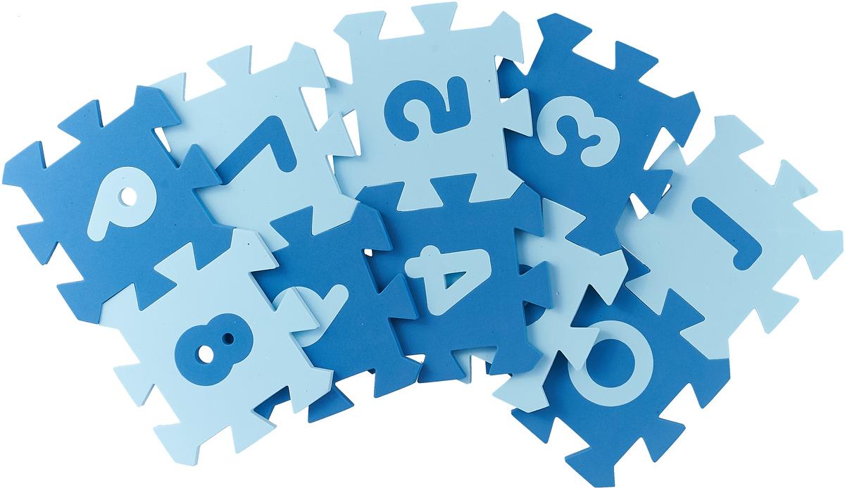 Бомик Пазл для малышей Коврик Цифры цвет серо-голубой серо-синий