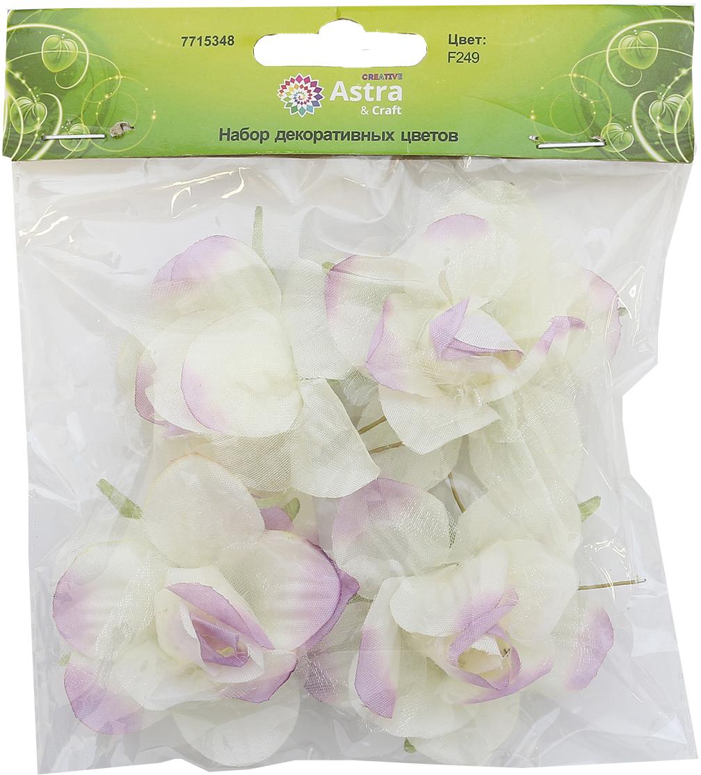 Бумажные цветки с воздушными полупрозрачными лепестками на коротком проволочном стебельке. Назначение: скрапбукинг, декорирование открыток, рамок для фотографий, другие виды творчества.Размер цветков: 5,5 х 2,5 см.В упаковке 4 цветка.