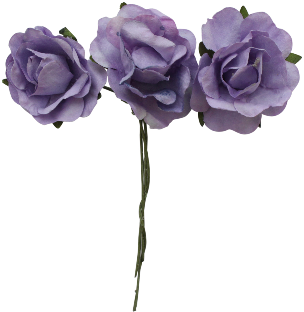 Бумажные цветы с проволочным стебельком подойдут для работы в технике скрапбукинга, создания авторских бутоньерок, украшения предметов интерьера и другого.Размер: 3 х 1,5 см.В упаковке 12 цветков.