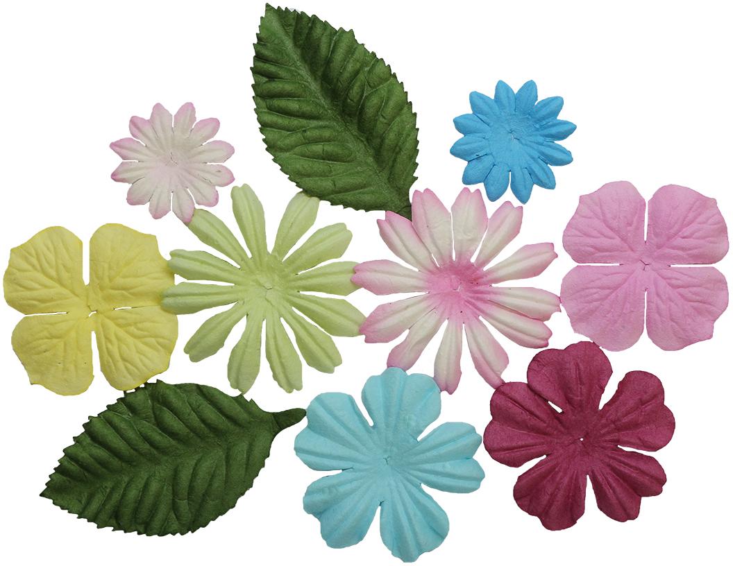 Цветочки пастельных оттенков из шелковичной бумаги с тиснением подойдут для создания объемных цветочных композиций на пригласительных открытках, обложках фотоальбомов и другого.В упаковке 10 шт.