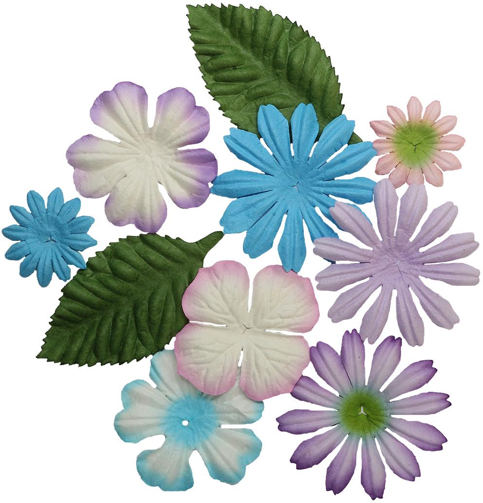 Цветочки нежных оттенков из шелковичной бумаги с тиснением подойдут для создания объемных цветочных композиций на пригласительных открытках, обложках фотоальбомов и другого.В упаковке 10 шт.