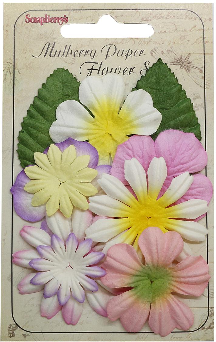Яркие цветочки из шелковичной бумаги с тиснением подойдут для создания объемных цветочных композиций на пригласительных открытках, обложках фотоальбомов и другого.В упаковке 10 шт.