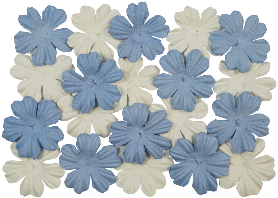 Набор декоративных листочков ScrapBerrys, цвет: белый, голубой, 20 шт694900_06 небесный белыйТакой набор декоративных листочков станет любимым элементом декора в скрапбукинге. Назначение: украшение подарочных альбомов, блокнотов, шкатулок, конвертов, пригласительных открыток.В упаковке по 10 цветков каждого вида (всего 20 шт).