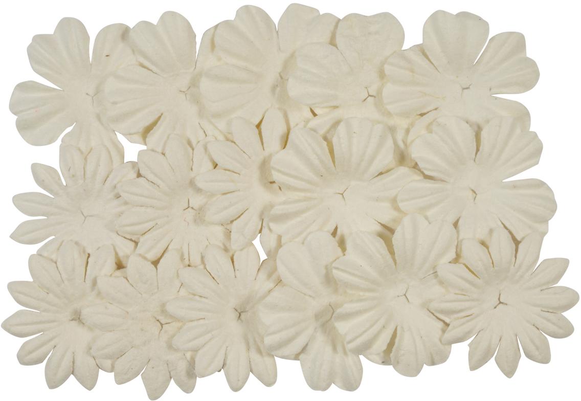 Набор декоративных листочков ScrapBerry's, цвет: белый, 20 шт набор декоративных листочков scrapberry s цвет белый 20 шт