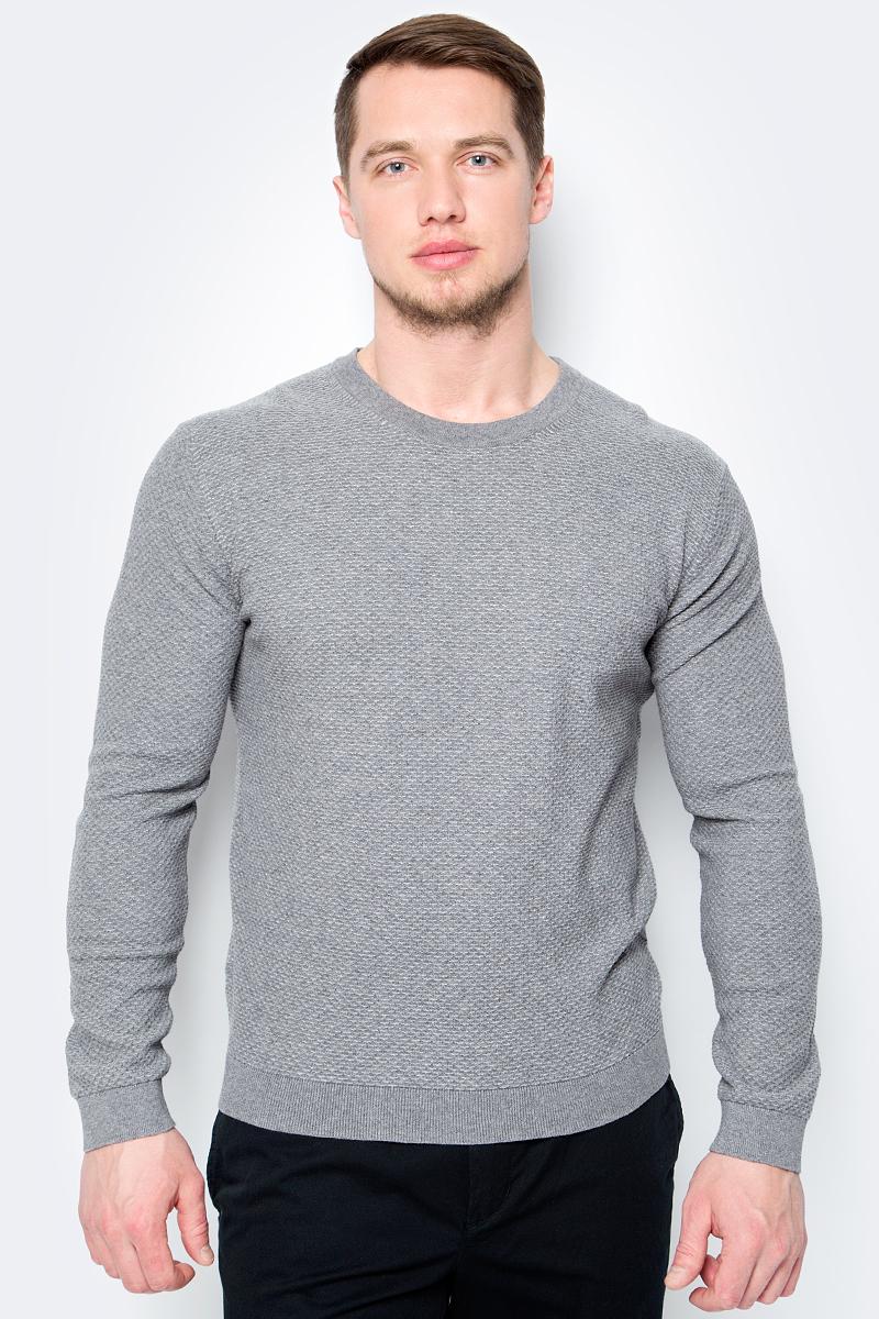 Купить Пуловер мужской United Colors of Benetton, цвет: серый. 14RRU1F46_911. Размер XS (44/46)