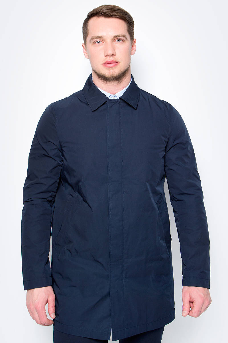 Пальто мужское United Colors of Benetton, цвет: темно-синий. 2SD75K168_06U. Размер 46