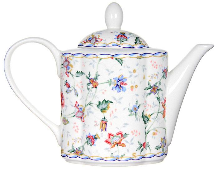 """Заварочный чайник """"Букингем"""" сочетает в себе изысканный дизайн с максимальной функциональностью. Красочность оформления придется по вкусу и ценителям классики, и тем, кто предпочитает утонченность и изысканность. Чайник выполнен из керамики. Нежный цветочный рисунок придает модели особый шарм, который понравится каждому. Размер чайника: 11,5 х 12,5 х 10 см."""