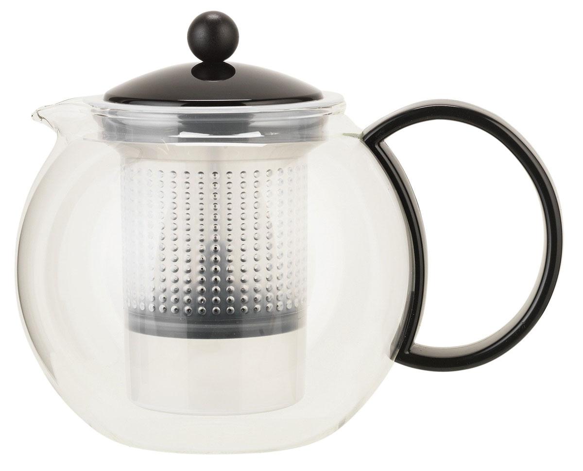"""Чайник заварочный Bodum """"Assam"""" со специальным фильтром позволит вам заварить свежий, ароматный чай и займет достойное место на вашей кухне. Современный дизайн полностью соответствует последним модным тенденциям в  создании предметов бытовой техники. Изделие выполнено из высококачественного пластика, нержавеющей стали и стекла.  Объем: 1 л."""