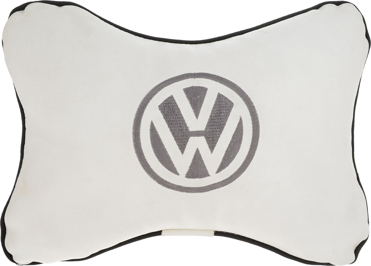 Подушка автомобильная Autoparts Volkswagen, на подголовник, цвет: белый, 30 х 20 см ваза arwa 20 х 20 х 30 см