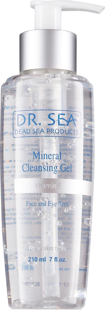 Dr. Sea Гель для лица и глаз, очищающий, минеральный, с витамином E, 210 мл217_прозрачный с дозаторомГель с дозатором от Dr. Sea, обладающий нежной консистенцией, подходит дляделикатного снятия макияжа и загрязнений с лица и глаз. Обеспечиваетэффективный уход за кожей лица, улучшает ее цвет, придает сияние инормализует водно-жировой баланс. Входящие в состав геля минералы Мертвогоморя, экстракты водоросли дуналиеллы, алоэ вера и гранулы витамина Eрегулируют работу сальных желез и улучшают микроциркуляцию.Подходит для всех типов кожи. Товар сертифицирован.