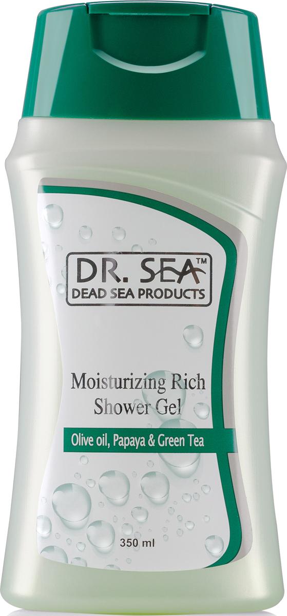 Dr Sea Увлажняющий гель для душа, масло оливы, папайя и зеленый чай, 350 мл