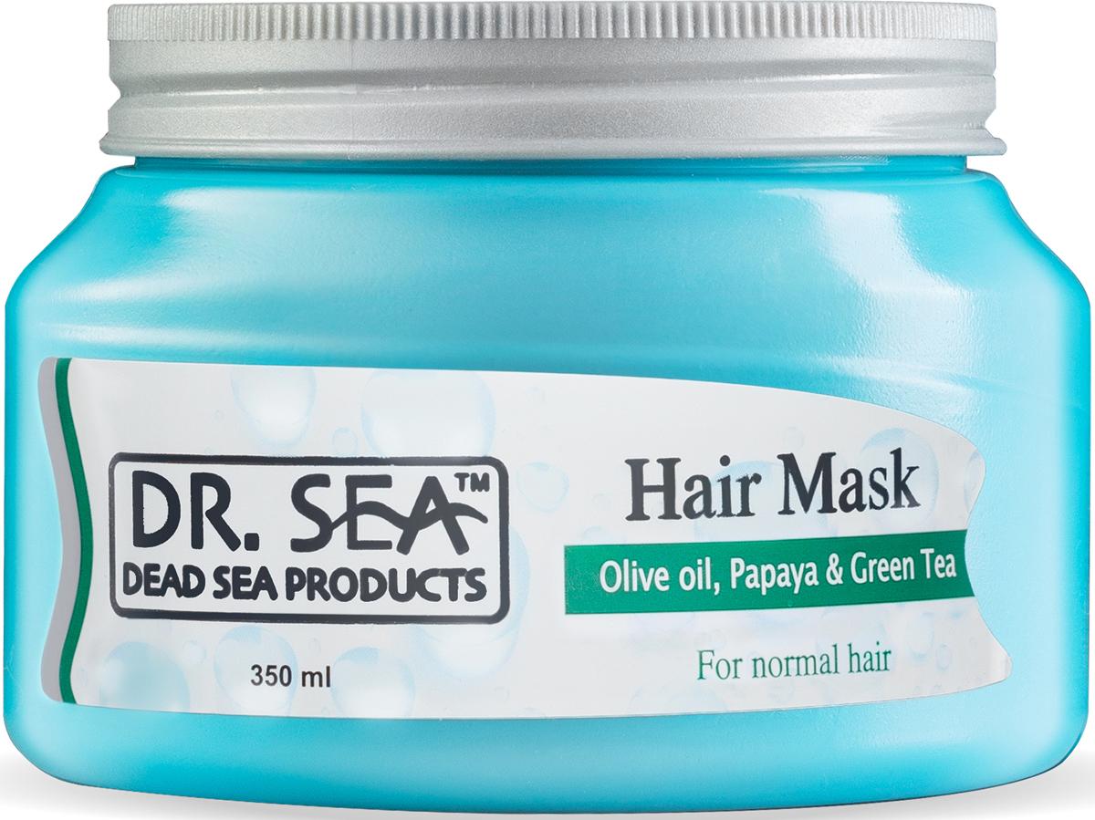 Dr.Sea Маска для волос с маслами оливы, папайи и экстрактом зеленого чая,350 мл
