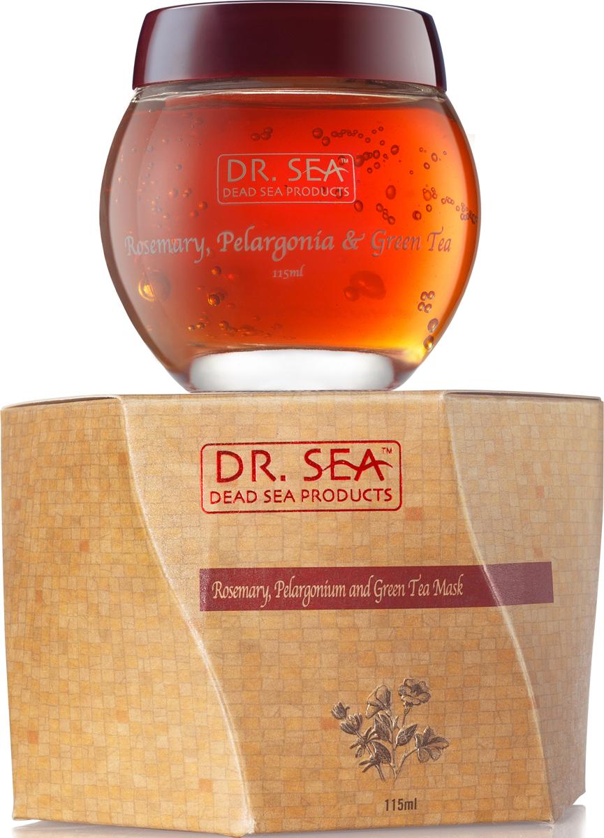 Dr. Sea Маска для лица Розмарин, пеларгония и зеленый чай, 115 мл305Антиоксидантный уход, успокаивающее действие, сужение пор. Экстракты розмарина и зеленого чая обладают успокаивающим действием, защищают кожу от свободных радикалов. Полифенолы зеленого чая оказывают противовоспалительное и антибактериальное действие, снабжают клетки кислородом, усиливают защитные свойства кожи. Дубильные вещества зеленого чая создают на коже защитную пленку, оказывающую бактерицидное действие. Экстракт зеленого чая уменьшает отечность, укрепляет стенки сосудов. Масло пеларгонии (герани) усиливает микроциркуляцию и способствует обновлению клеток кожи, является прекрасным успокаивающим средством для раздраженной чувствительной и поврежденной кожи. Также, обладая увлажняющим и смягчающим действием, благотворно влияет на сухую, огрубевшую, и шелушащуюся кожу лица. Оно помогает существенно восстановить ее упругость и эластичность. Не менее благотворно влияет эфирное масло пеларгонии и на жирную и проблемную кожу, т.к. способствует уменьшению производства кожного сала, нормализует работу потовых желез кожи лица, устраняет воспалительные процессы кожи, и тем самым помогает избавиться от прыщей и угревой сыпи. Подходит для всех типов кожи.