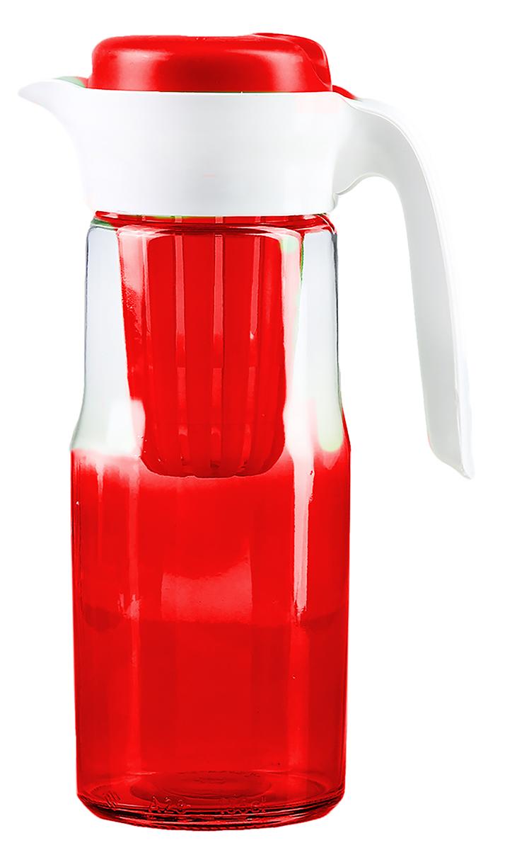 Кувшин Renga Дейзи, цвет: красный, 1,5 л2936546-красныйОт качества посуды зависит не только вкус еды, но и здоровье человека. Кувшин с пластиковым ситом-товар, соответствующий российским стандартам качества. Любой хозяйке будет приятно держать его в руках. С нашей посудой и кухонной утварью приготовление еды и сервировка стола превратятся в настоящий праздник.