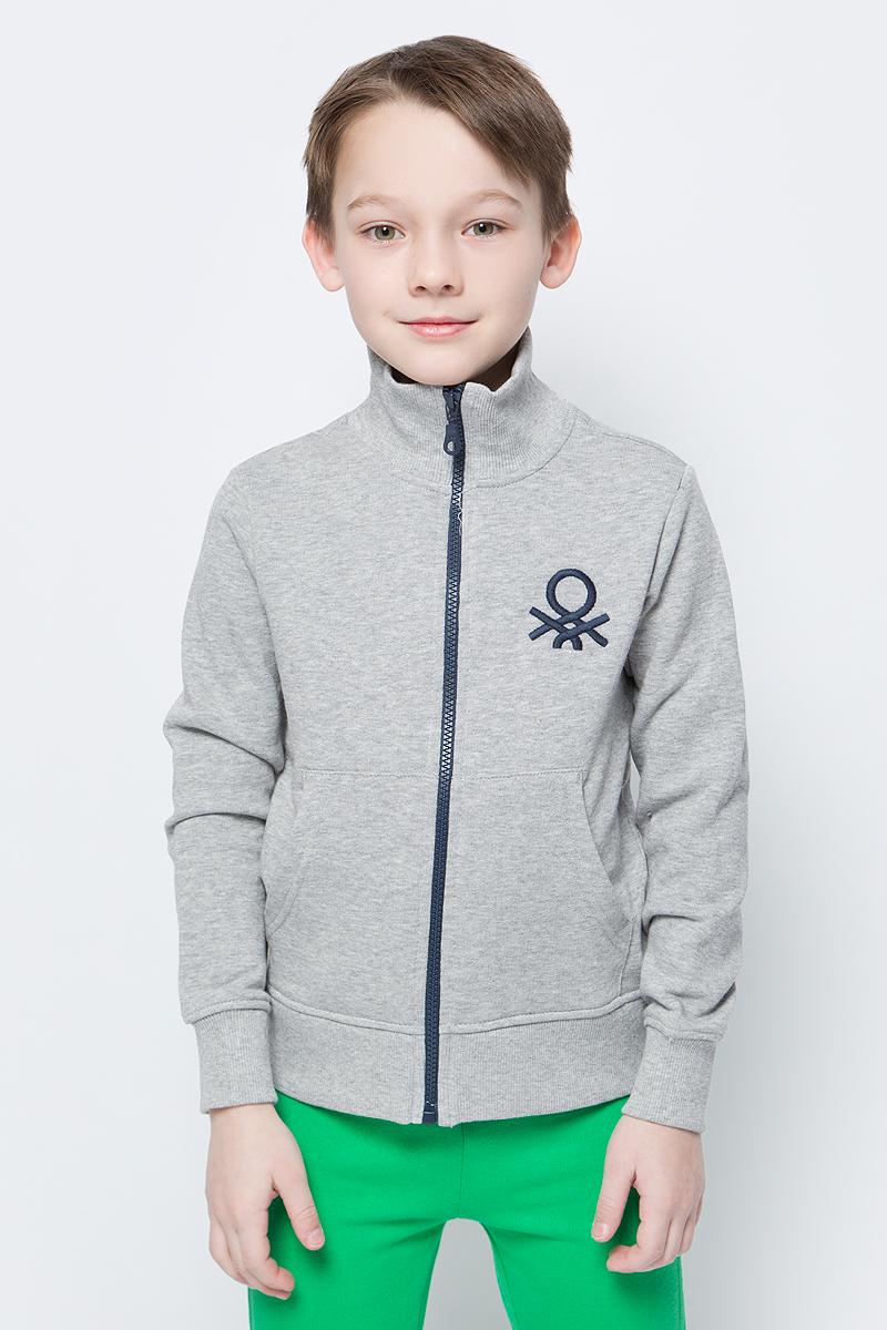 Толстовка для мальчиков United Colors of Benetton, цвет: серый. 3J68C5196_501. Размер 1303J68C5196_501