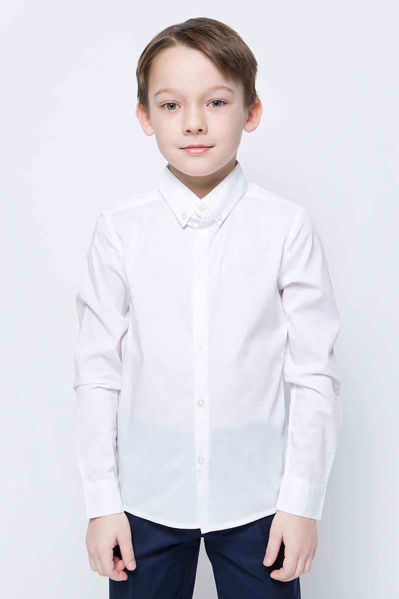 Рубашка для мальчиков United Colors of Benetton, цвет: белый. 5AWR5QBK0_101. Размер 1205AWR5QBK0_101