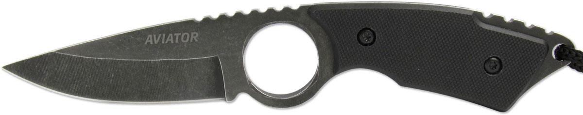 Нож туристический Ножемир Aviator, цвет: черный, длина клинка 7,8 см. K-102BBS