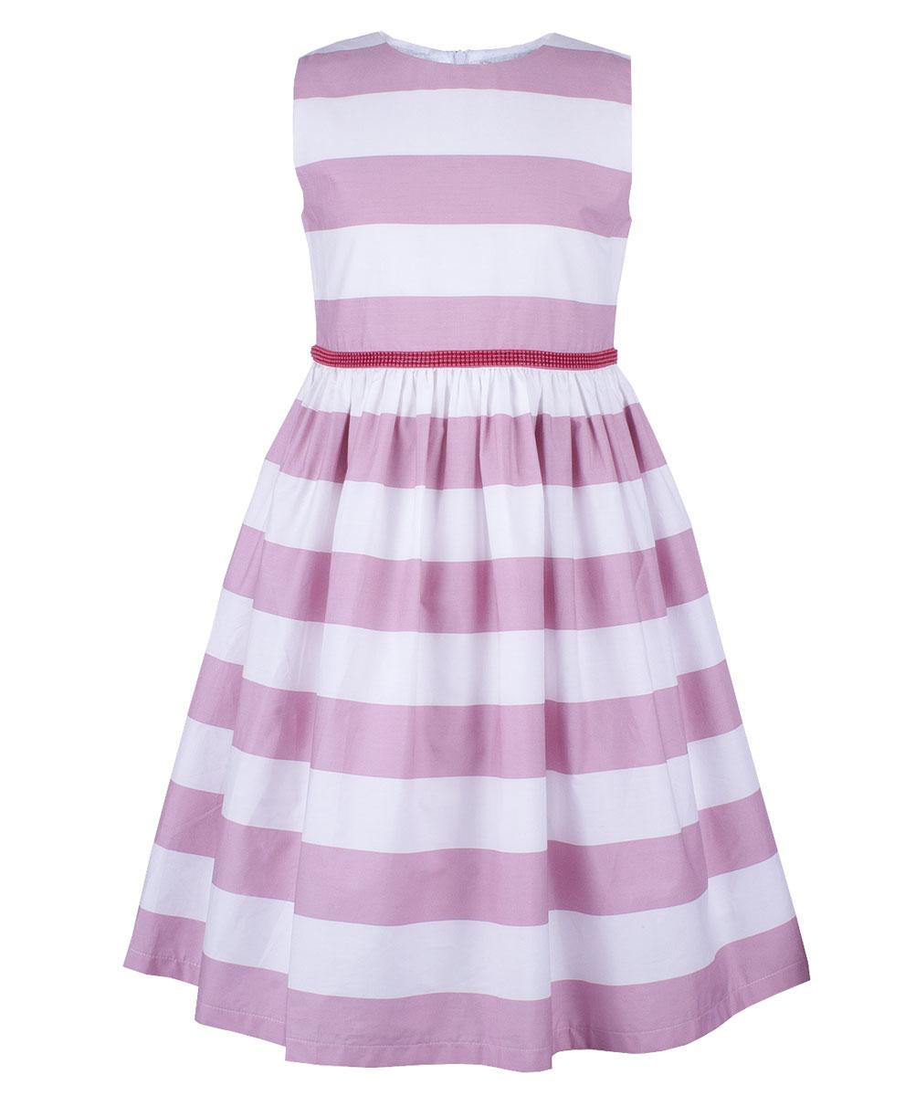 Платье для девочки Button Blue Party, цвет: розовый. 118BBGP25051205. Размер 104118BBGP25051205Нарядное платье в полоску от Button Blue, украшенное поясом с бантом, станет прекрасным вариантом праздничного наряда. Платье без рукавов изготовлено из натурального хлопка и застегивается на скрытую застежку-молнию на спинке. Свободное и легкое, оно не стесняет движений, отлично сидит по фигуре и дарит только комфорт. В таком платье каждая девочка станет звездой любой вечеринки.