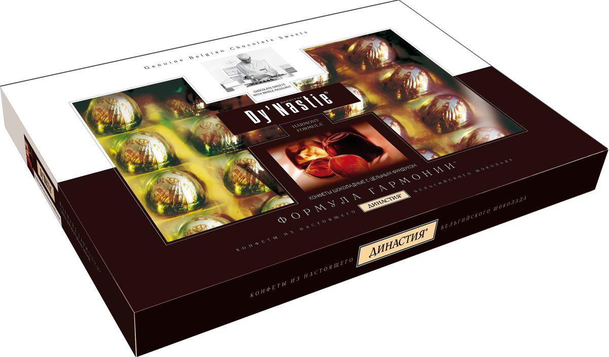 Династия Формула гармонии с цельным фундуком шоколадные конфеты, 180 г династия ананасы в шампанском шоколадные конфеты 195 г