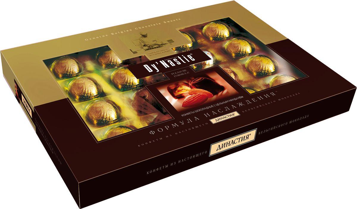 Династия Формула наслаждения с миндалем шоколадные конфеты, 180 г шоколадные годы конфеты ассорти 190 г