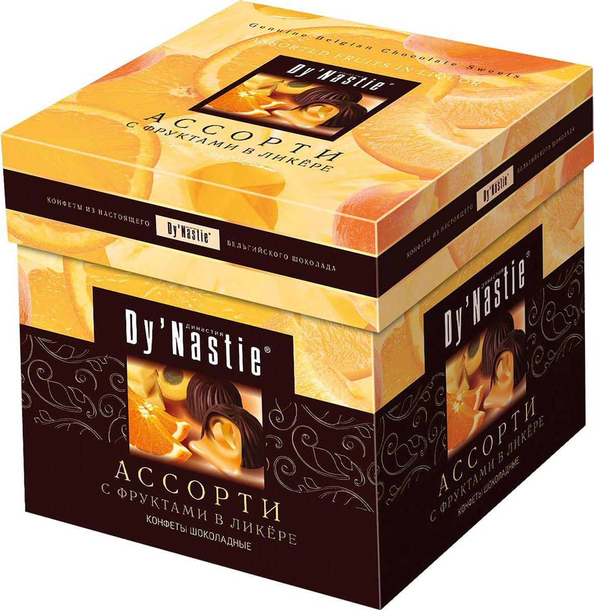 Династия Ассорти с фруктами в ликере шоколадные конфеты, 105 г династия лимончелло шоколадные конфеты 145 г