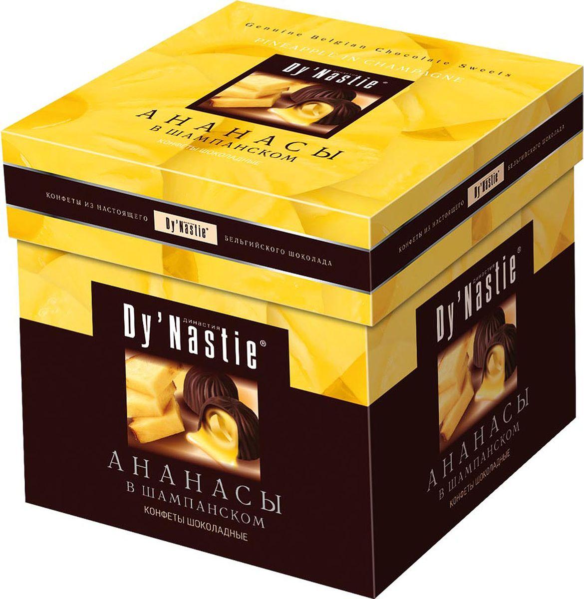Династия Ананасы в шампанском шоколадные конфеты, 105 г шоколадные годы конфеты ассорти 190 г