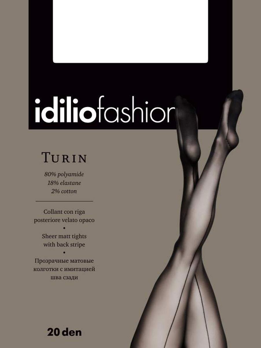 Колготки Idilio Turin 20, цвет: Nero (черный). kw17. Размер 2kw17Прозрачные колготки 20 ден с имитацией шва сзади, с поддерживающими ажурными трусиками, с ластовицей.
