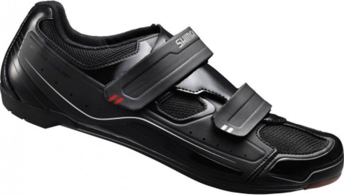 Велотуфли мужские Shimano SH-R065L, цвет: черный. Размер 41SH-R065LВелотуфли Shimano SH-R065L SPD-SL. Универсальные туфли для спортивной езды. Оригинальный дизайн с фирменными знаками качества. Плоская стелька для комфорта, равномерной амортизации и легкости. Shimano Dynalast обеспечивает точное прилегание и повышает эффективность педалирования. Педали SPD могут использоваться только с шипами SPD с адаптером SM-SH40. Индикатор жесткости 6.