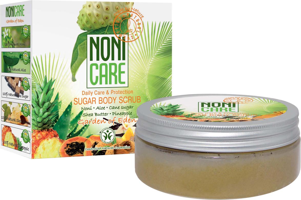 Nonicare Сахарный скраб для тела c АНА–кислотами Garden Of Eden - Sugar Body Scrub 200 мл моделирующие масло для тела nonicare моделирующие масло для тела
