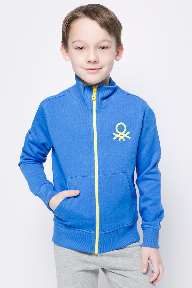 Толстовка для мальчиков United Colors of Benetton, цвет: синий. 3J68C5196_0M8. Размер 1703J68C5196_0M8