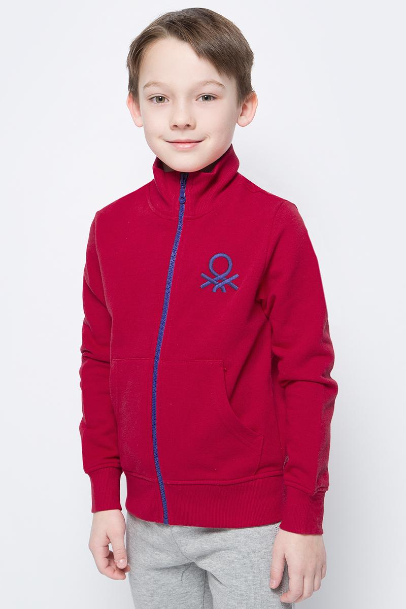 Толстовка для мальчиков United Colors of Benetton, цвет: красный. 3J68C5196_219. Размер 1003J68C5196_219