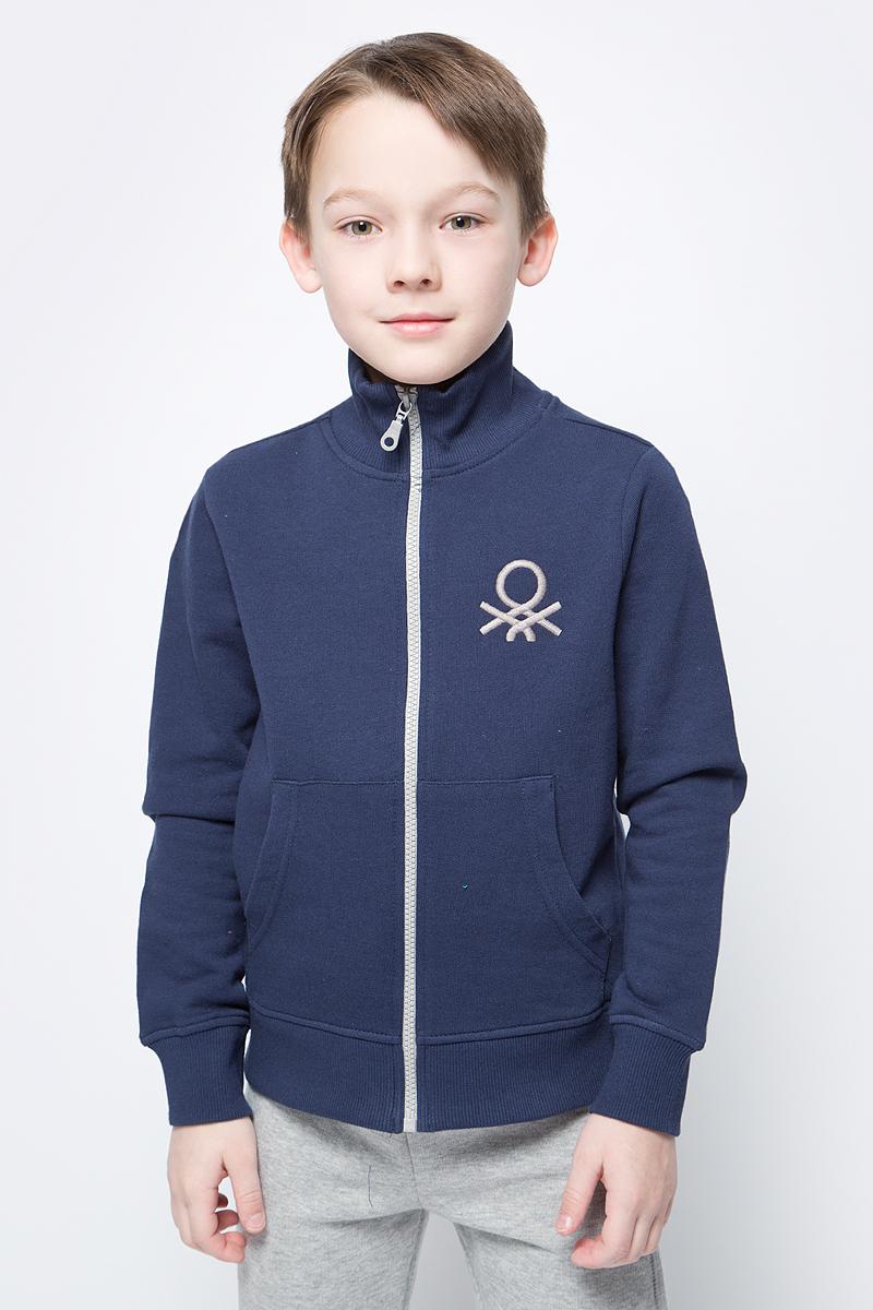 Толстовка для мальчиков United Colors of Benetton, цвет: синий. 3J68C5196_13C. Размер 1403J68C5196_13C