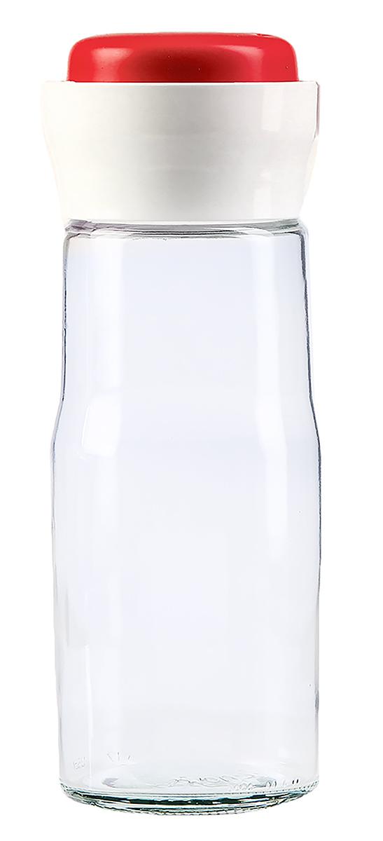 Банка для сыпучих продуктов Дейзи, цвет: красный, 1,4 л емкость для сыпучих продуктов idea деко гжель 1 9 л