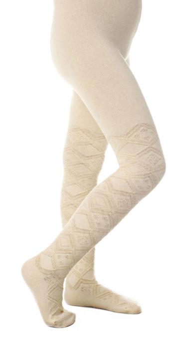 Колготки для девочки Idilio, цвет: слоновая кость. KGJ03. Размер 92/98KGJ03Ажурные колготки для маленьких модниц с добавлением экологически чистого хлопка, изготовленные без применения химических красителей.