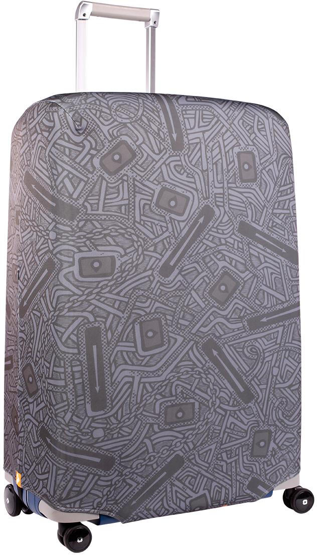 Чехол для чемодана Routemark, цвет: серый, темно-серый, размер L/XL
